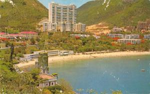 Hong Kong Island panoramic view Repulse Bay summer resort vintage pc Z45618