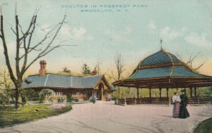 BROOKLYN , New York, 1900-10s ; Shelter in Prospect Park