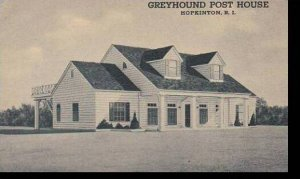 Rhode Island Hopkinton Greyhound Post House Curteich