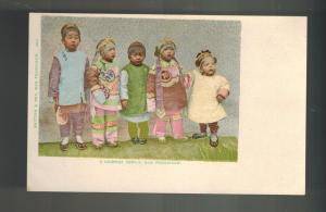 Mint San Francisco California USA Chinatown RPPC Postcard Five Chinese Children