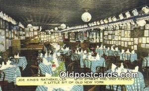 Linen, Joe King's Rathskeller Restaurant, New York City, NYC Postcard Post Ca...