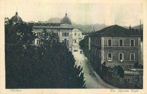 Italy Belluno Via Ippolito Caffi vintage Postcard
