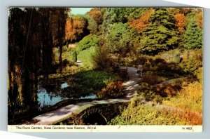 Neston Wirral UK-United Kingdom, The Rock Garden, Ness Gardens, Chrome Postcard