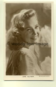 b0987 - Film Actress - June Allyson - Picturegoer postcard no W162