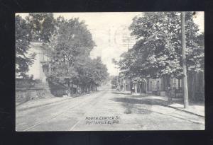 POTTSVILLE PENNSYLVANIA NORTH CENTER STREET SCENE RESIDENCE PA OLD POSTCARD