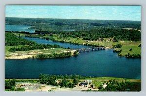 Huntsville Ontario- Canada, Vernon Narrows Bridge, Hunters Bay, Chrome Postcard