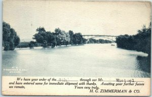 1907 Chicago Adv. Postcard H.G. ZIMMERMAN Post Card Salesman's Appointment Card