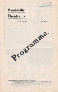 Jack Straw Vaudeville 1908 Charles Hawtrey Comedy Theatre Programme