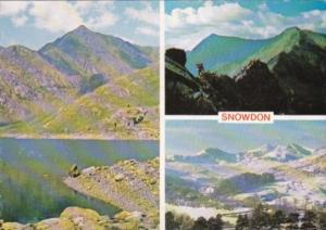 Wales Llyn Llydaw and Snowdon Multi View