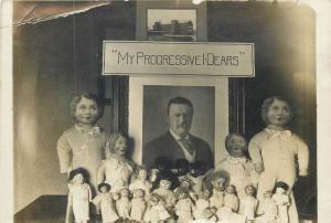 RARE President Roosevelt Advert Underwear little progressive dears dolls RPPC