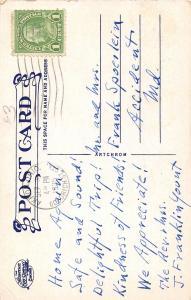 F27/ Akron Ohio Postcard Interior Concordia Lutheran Church 1935