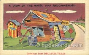 Decatur, Texas, Usa Out House, Out Houses, Outhouse, Outhouses Postcard Postc...