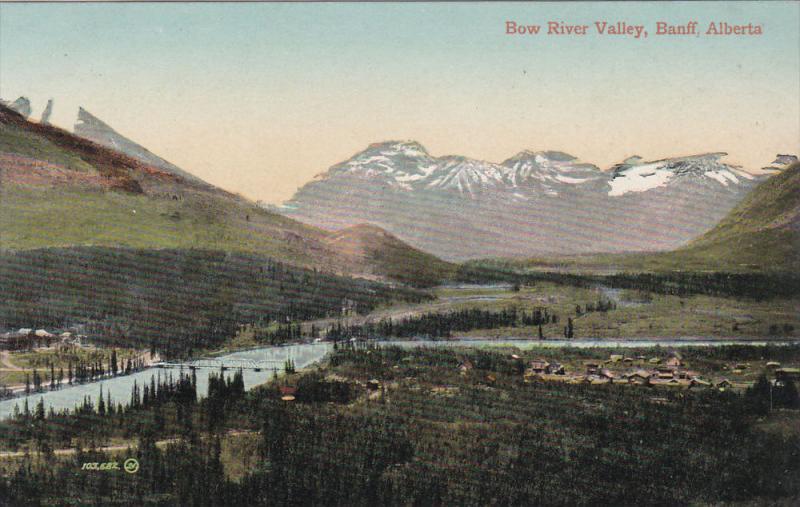 Bow River Valley, BANFF, Alberta, Canada, 1900-1910s