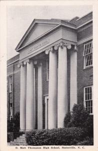 STATESVILLE , North Carolina , 1947 ; D. Matt Thompson High School