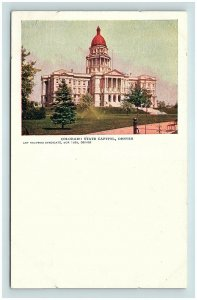 Postcard CO Denver Colorado State Capitol Pre 1908 G03