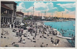 TORONTO, Ontario, Canada, 1900-1910s; The Bathing Beach, Sunnyside