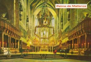 Spain Palma de Mallorca La Cathedral Interior