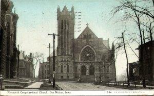 Iowa Des Moines Plymouth Congregational Church 1910