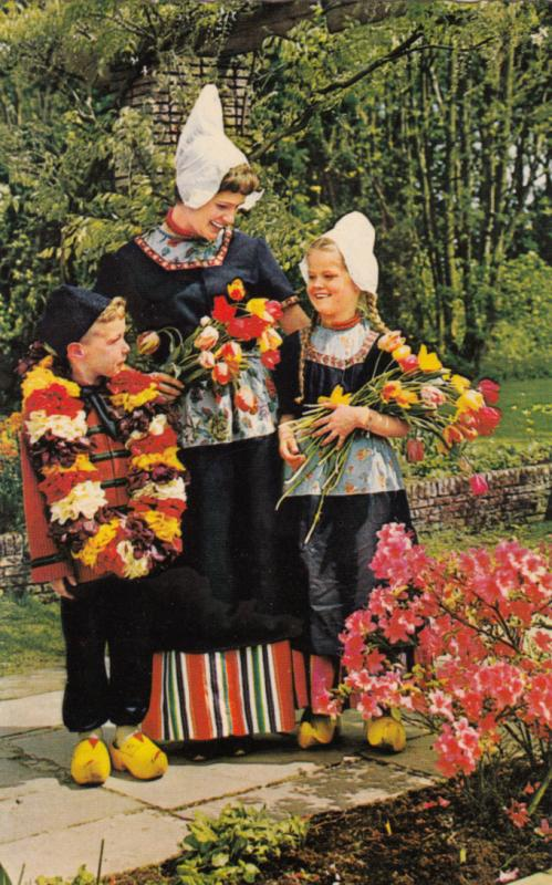 Holland in Flower decoration, used Postcard