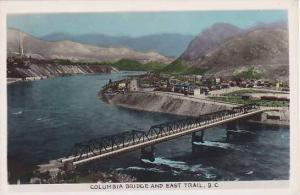 RP; Hand-tinted, Columbia Bridge and East Trail, British Columbia, Canada, 10...