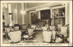 spain, VALENCIA, Hotel Alhambra, Hall, Reception 1940s