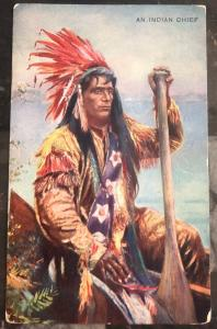 Mint USA PPC Picture Postcard Native American An Indian Chief