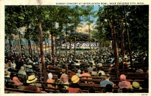 Traverse City, Michigan - Sunday Concert at Interlochen Bowl - in 1930