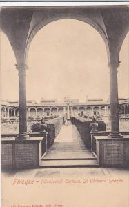 Courtyard View, Certosa, Il Chiostro Grande, Firenze, Toscana, Italy Pre-1907