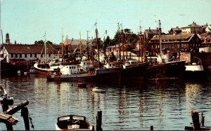 Massachusetts Gloucester Fishing Boats At Wharf 1971