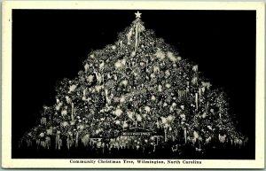 Wilmington, North Carolina Postcard Community Christmas Tree c1930s Unused