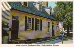 Virginia Fredericksburg Hugh Mercer's Apothecary Shop