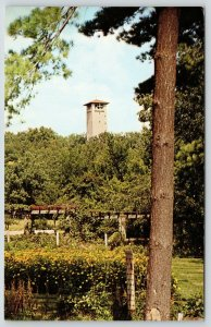 Green Lake WI~American Baptist Assembly~Judson Carillon Tower~Formal Garden~1968