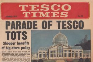 Tescos Tesco Times Supermarket 1972 Moira Anderson Old Newspaper