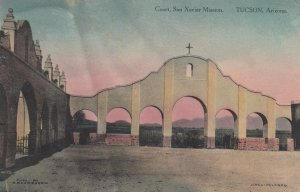 Court , San Xavier Mission , TUCSON , Arizona , 1910