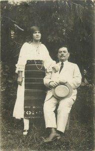 Romania Transylvania 1921 folk costume photo postcard