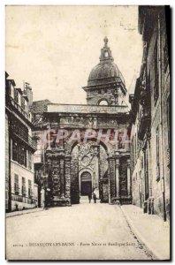 Old Postcard Besancon Les Bains Black Gate and Basilica of St. John
