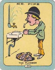 Carreras Vintage Cigarette Card N0 35 Mr Pipe The Plumber