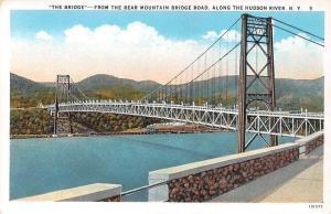 USA The Bridge - From the Bear Mountain Bridge Road, along the Hudson River