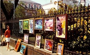 Louisiana New Orleans Paintings On Exhibit In The French Quarter 1972