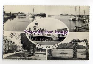 tq2106 - Kent - Multiview x 5, Various Views around Faversham c1960s - Postcard
