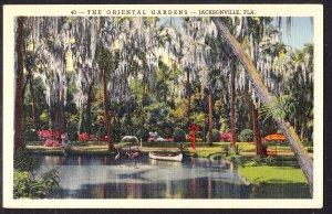 FL - Jacksonville - Oriental Gardens flamingos – Duval News card