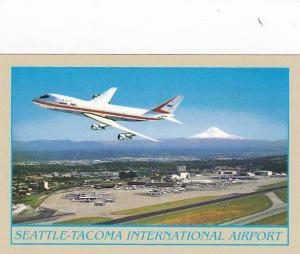 Boeing 747 Passenger Jet Airplane, Seattle-Tacoma International Airport, Wash...