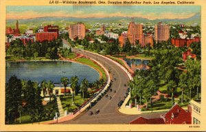 California Los Angeles Wilshire Boulevard and General Douglas MacArthur Park ...