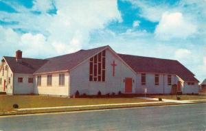 Sea Isle City New Jersey Methodist Church Street View Vintage Postcard K59464
