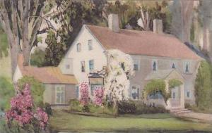 Massachusetts Old Deerfield A Residence House Albertype
