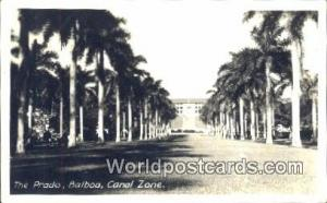 Panama Canal Zone The Prado, Balboa Real Photo