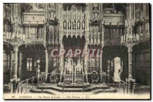 Old London Postcard The House Of Lords The throne