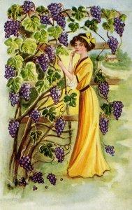 Lady in Vineyard   (Winsch back)