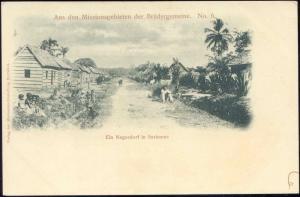 suriname, Native Negro Village (ca. 1899) Mission