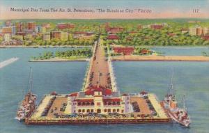Florida Saint Petersburg Municipal Pier From The Air Saint Petersburg The Sun...
